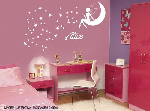 adesivos parede-guarda roupa-fada -menina princesa