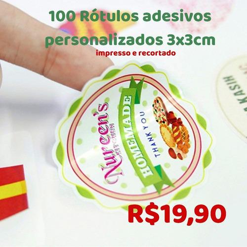 adesivos personalizados 100 unidades