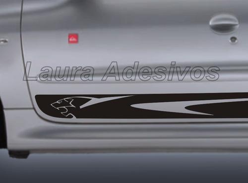 adesivos peugeot 207 4 portas faixas laterais tuning carros
