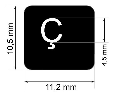 adesivos português p teclado notbook etiquetas abnt2 cedilha