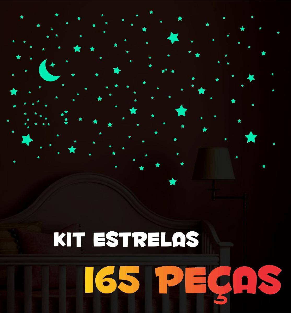 Armario Segunda Mano Mallorca ~ Adesivos Que Brilham No Escuro Kit Estrelas 165 Peças R$ 34,90 em Mercado Livre