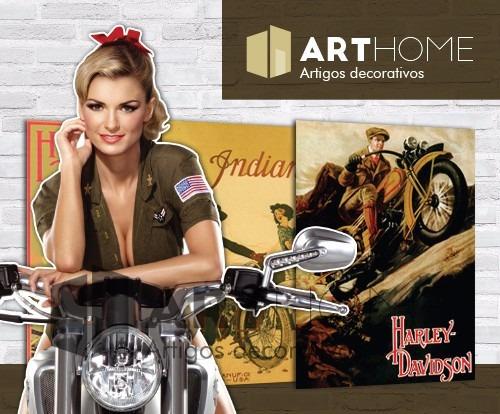 adesivos retrô 30x20cm - vintage carros motos cerveja bebida
