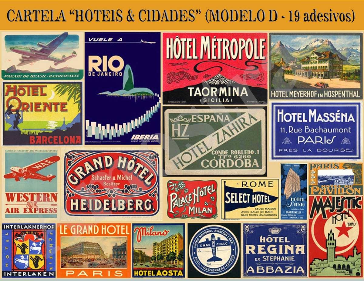 Armario Que Vira Mesa Tok Stok ~ Adesivos Retr u00f4 Vintage Old Mala Antigas Viagem frete
