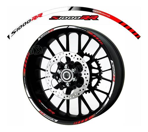 adesivos roda moto bmw s1000rr kit friso refletivo fri028