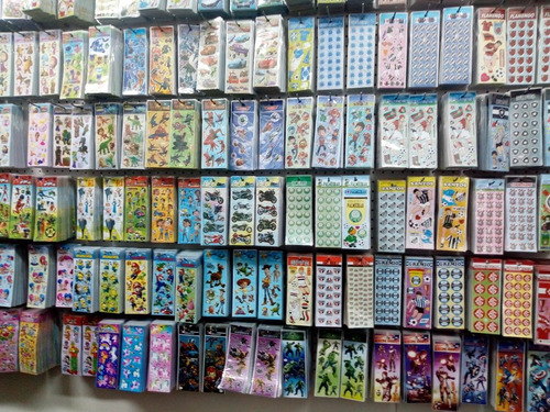 adesivos stickers com 240 cartelas personagens variados