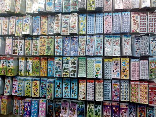 adesivos stickers personagens kit 144 cartelas