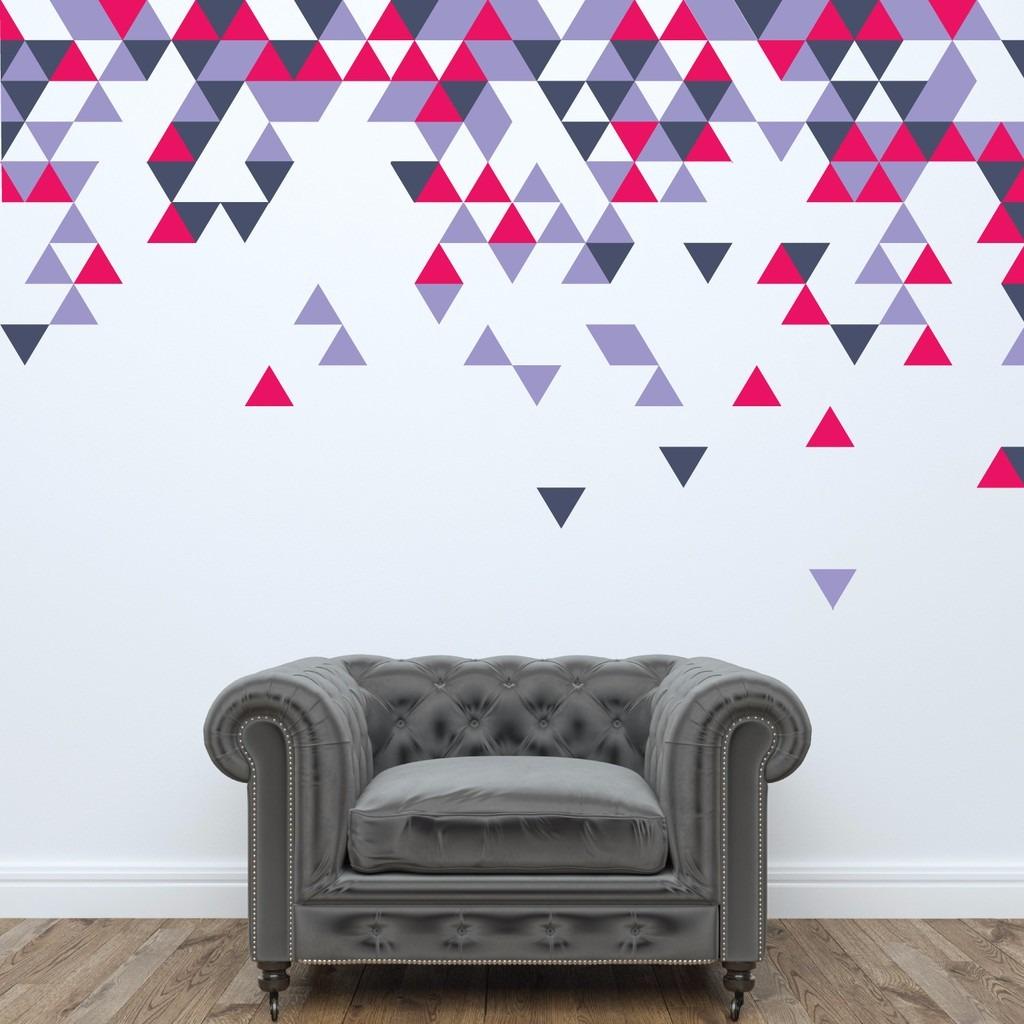 adesivos triangulos de parede coloridos 8x8 cm 240 un r 104 00 em mercado livre. Black Bedroom Furniture Sets. Home Design Ideas