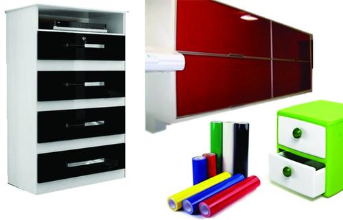 adesivos vinil plotter 17x1m p/ decoração móveis