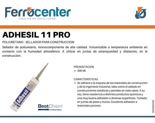 adhesil 11 pro poliuretano sellador p/ construcción gris