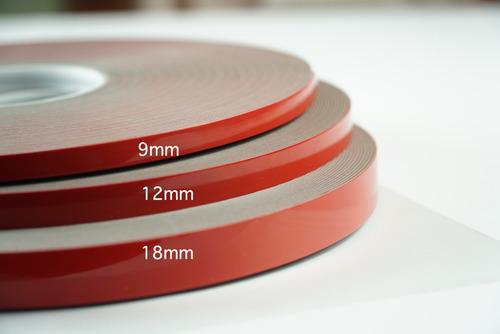 adhesivo acrilico doble cara de 9mmx5mts