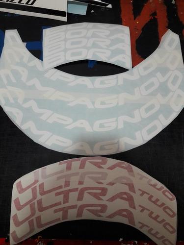 adhesivo calcos ruedas de ciclismo campagnolo bora ultra two