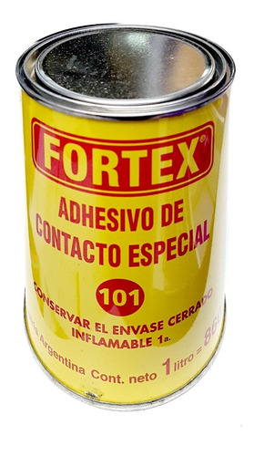 adhesivo cemento contacto 101 fortex 1lts pegamento cuero