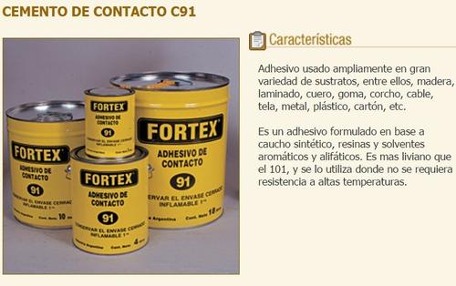 adhesivo cemento contacto  91 fortex 1lts pegamento verashop