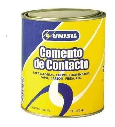 adhesivo cemento de contacto 4 litros unisil g p