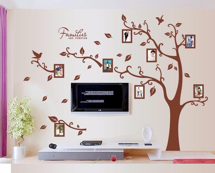 adhesivo decorativo rbol geneal gico stickers de pared. Black Bedroom Furniture Sets. Home Design Ideas