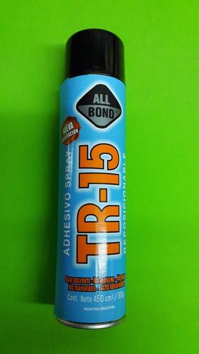 adhesivo en aerosol tr-15 temporal para confeccion, plotter