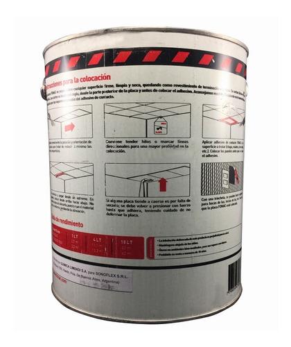 adhesivo fonac para placas fonoabsorbentes 4 lts