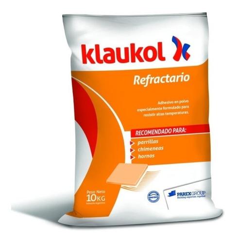 adhesivo gris refractario 10kg (1 bolsa) klaukol s.a