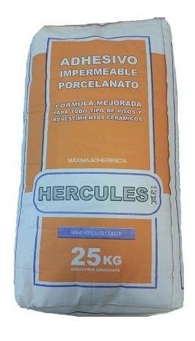 adhesivo impermeable hercules para porcelanato 25kg