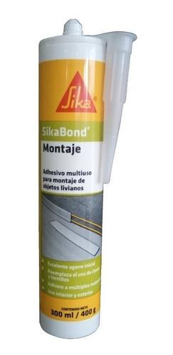 adhesivo multiuso sikabond montaje 300ml ideal p/ zocalos de pvc