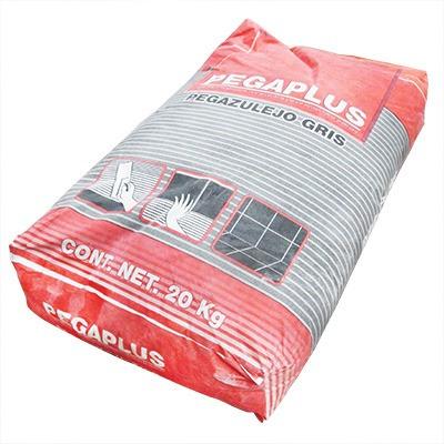 Adhesivo piso/azulejo pegaplus gris 20 kgs.    67.80 en mercado libre
