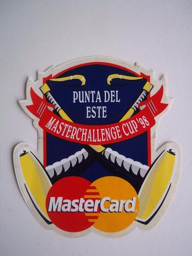 adhesivo polo cup punta del este 1997 1998 calco sticker c/u