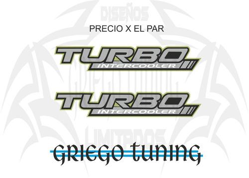 adhesivo  turbo intercooler  camioneta med, oferta 2 unid.