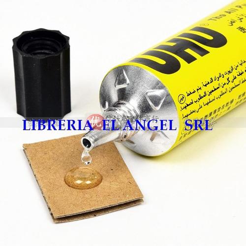 adhesivo uhu universal pomo 125ml pegamente transpante 125cc