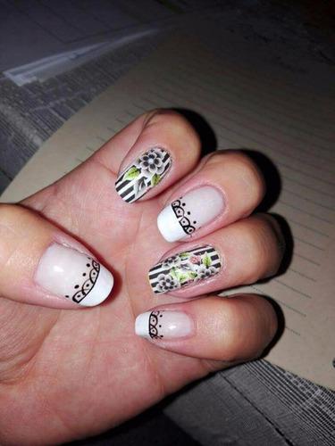 adhesivo uñas stikers nail deroracion manicure cintas