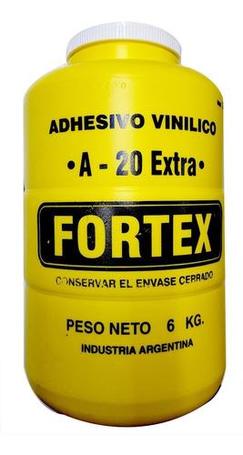 adhesivo vinilico / cola fortex a-20 x 6 kg pegamento madera