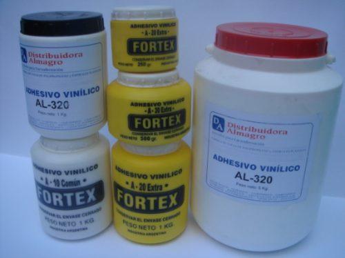 adhesivo vinilico / cola vinilica fortex  a-20 x 1/2  kg.