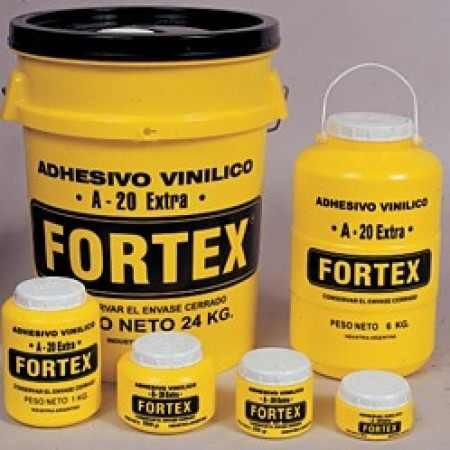 adhesivo vinilico / cola vinilica fortex  a-20 x 1/4  kg.