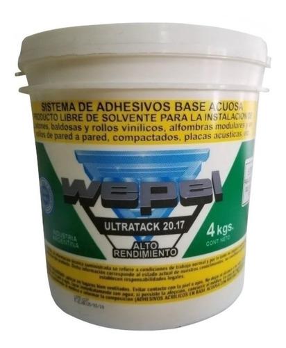 adhesivo wepel kp-53 ultratack modular piso tecnico 4 kg