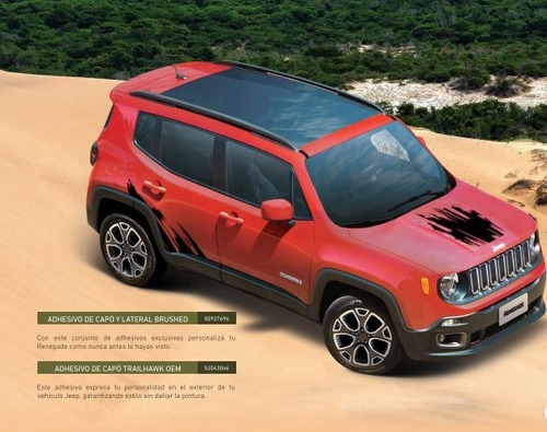 adhesivos brushed - renegade jeep renegade 16/19