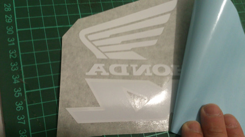 adhesivos pegotín  x moto honda xl 185 s material durable