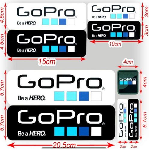 adhesivos stickers calcomanias gopro go pro x 9 unidades