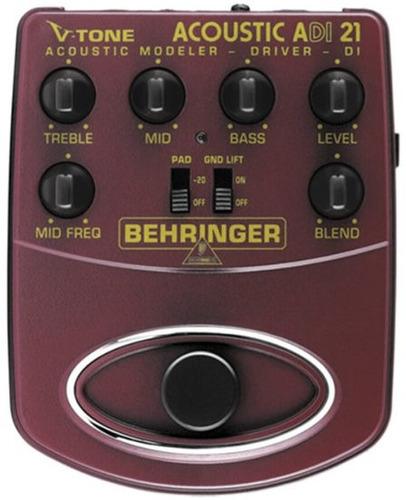 adi21 pedal behringer v-tone adi 21 p/ violão
