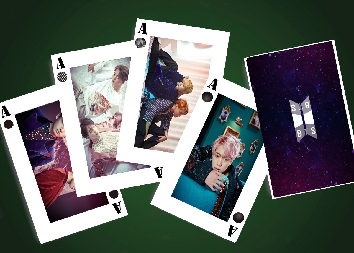 Adicional Mazo Bts Juego Baraja Cartas Poker Album Kpop Bs 6 888