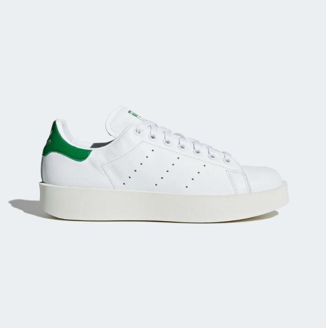 Adidad Tenis Stan Smith Bold Mujer Blanco Verde Originales