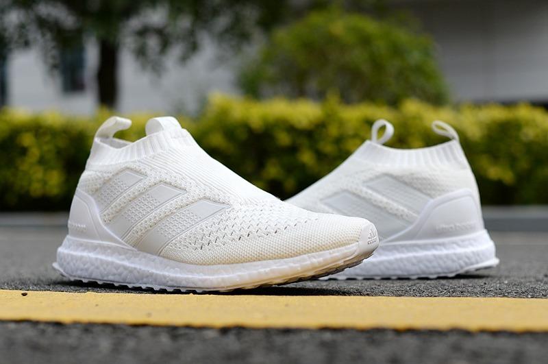 huge discount 67c18 78c23 adidas ace 16+ purecontrol ultraboost triple white. Cargando zoom.