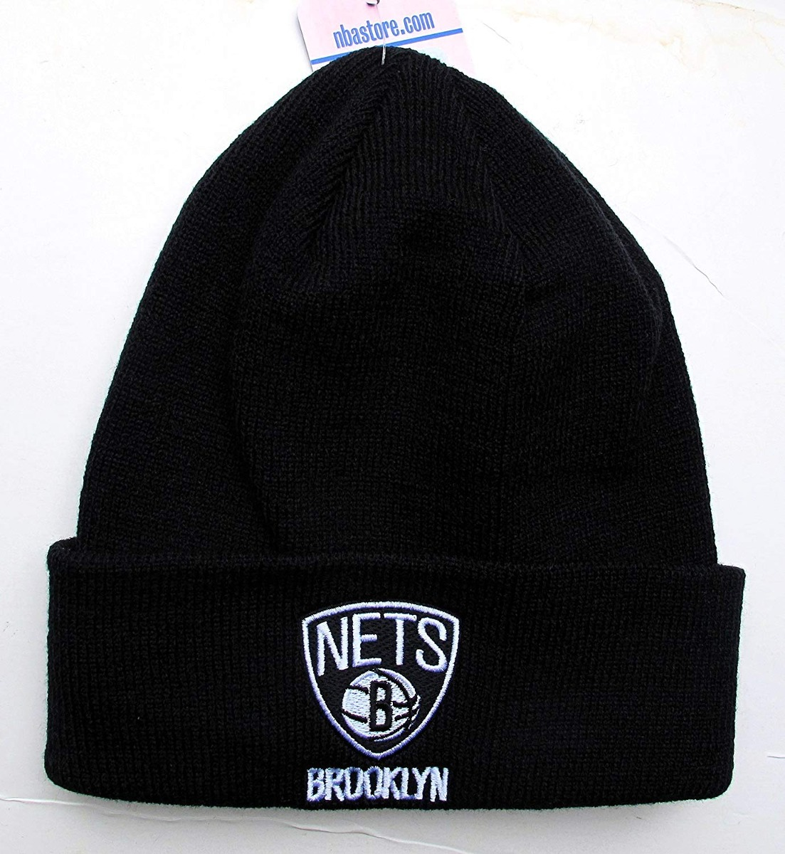 429ea8a5f63 adidas brooklyn nets black cuff beanie hat nba knit ba... ...