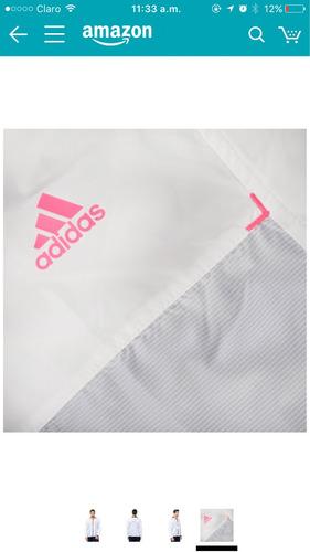adidas chaqueta original corta vientos blanca talla l