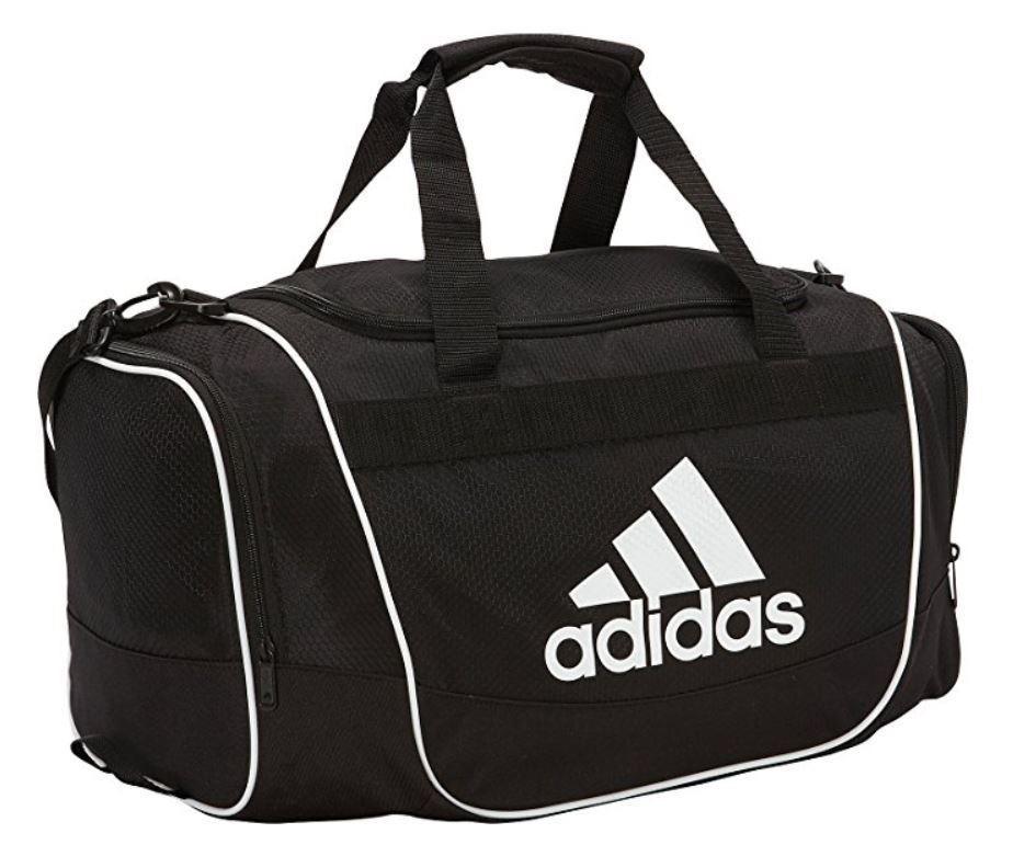 Adidas defender small duffel bag black white tote carry cargando zoom jpg  924x781 Small duffle gym 9fe215c0bf16b
