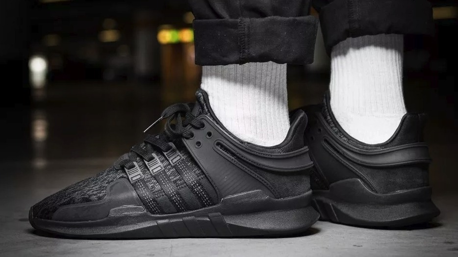 best authentic bea7c 1c277 adidas Eqt Support Adv All Black / 100% Originales