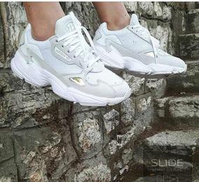 zapatillas adidas falcon mujer blancas