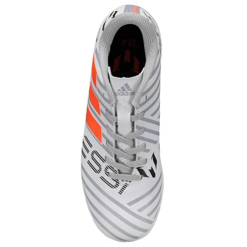 103868b0e12bc Carregando zoom... chuteira adidas nemeziz messi 17.4 in futsal juvenil  branca