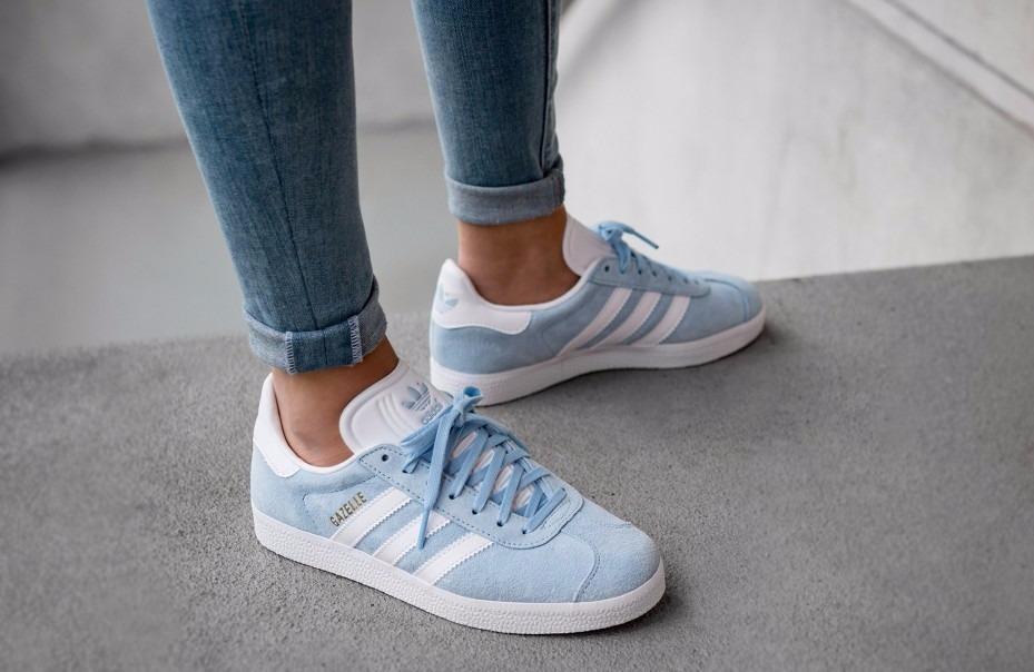 adidas gazelle azules claro