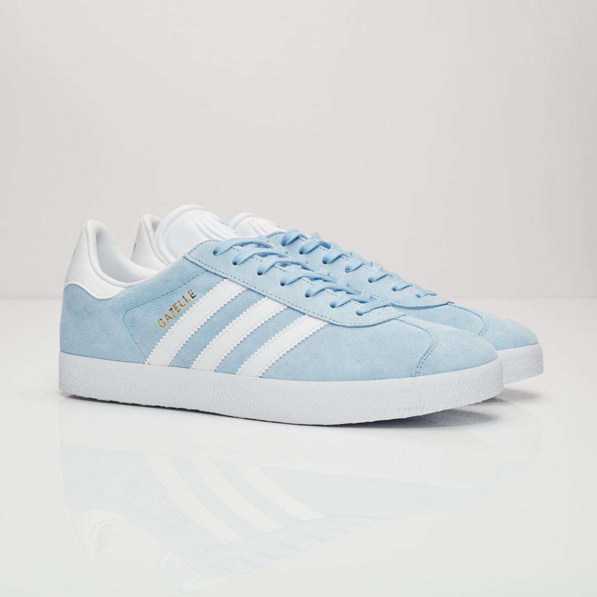 adidas gazelle mujer azul claro