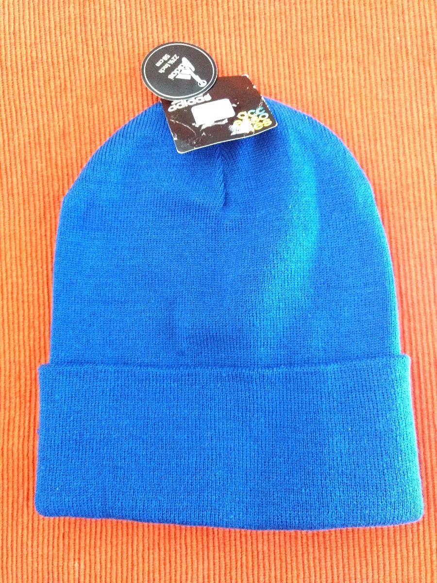 adidas gorro de lana color azul original imp. Cargando zoom. 37ffe566353