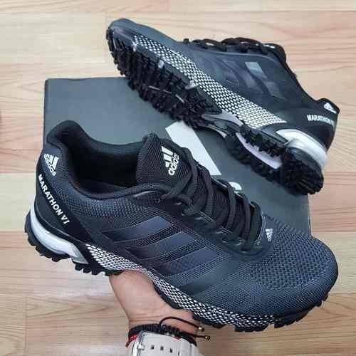 tenis zapatillas adidas marathon negra verde hombre env gr · tenis adidas  hombre · adidas hombre tenis 5c26946c6cb42